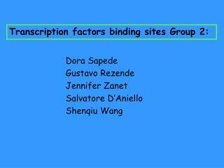 Transcription factors binding sites Group 2: