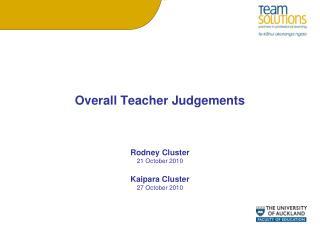 Overall Teacher Judgements
