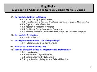 4.1.  Electrophilic Addition to Alkenes 	4.1.1. Addition of Hydrogen Halides