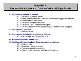 4.1.  Electrophilic Addition to Alkenes 4.1.1. Addition of Hydrogen Halides