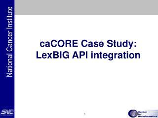 caCORE Case Study:  LexBIG API integration