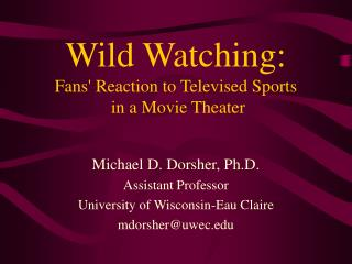 Wild Watching: Fans' Reaction to Televised Sports  in a Movie Theater