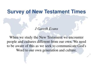 Survey of New Testament Times