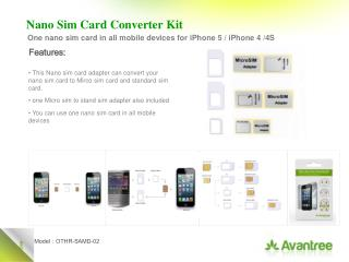 Nano  Sim Card Converter  Kit