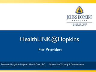 HealthLINK@Hopkins