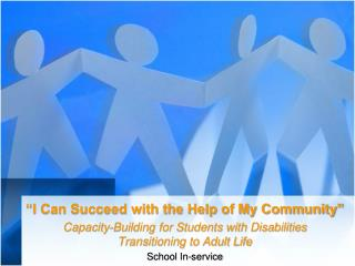"""I Can Succeed with the Help of My Community"""