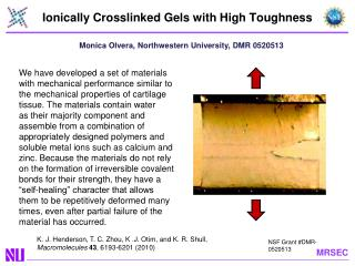 Ionically Crosslinked Gels with High Toughness