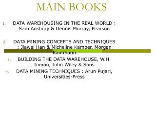 MAIN BOOKS