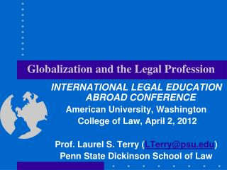 Globalization and the Legal Profession