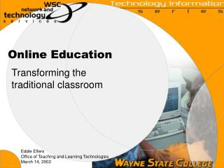 online teacing vs classroom teaching Stack, steven dr (2015) learning outcomes in an online vs traditional course,international journal for the scholarship of online vs the traditional classroom controlling for other constructs, there was no significant difference between exam online teaching, traditional classes.