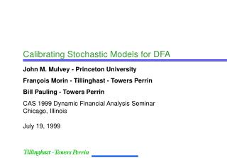 Calibrating Stochastic Models for DFA