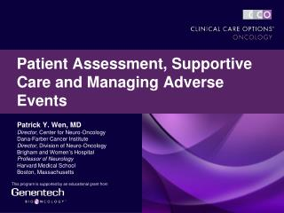 Patient Assessment, Supportive Care and Managing Adverse Events