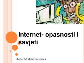 Internet- opasnosti i savjeti