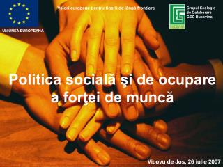 Politica sociala si de ocupare a fortei de munca