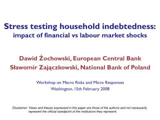 Stress testing household indebtedness: