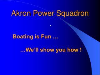 Akron Power Squadron