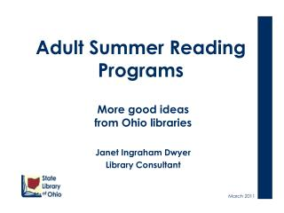 Adult Summer Reading Programs