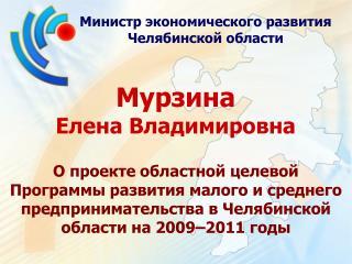Министр экономического развития Челябинской области