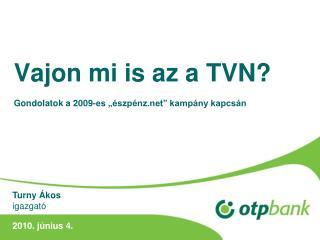 """Vajon mi is az a TVN? Gondolatok a 2009-es """"észpénz"""" kampány kapcsán"""