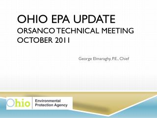 Ohio EPA Update ORSANCO Technical Meeting October 2011