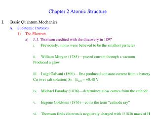 Chapter 2 Atomic Structure