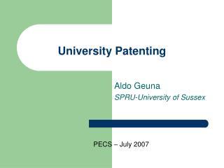 University Patenting