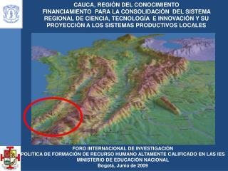 CAUCA, REGIÓN DEL CONOCIMIENTO