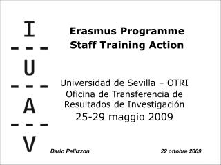 Universidad de Sevilla � OTRI Oficina de Transferencia de Resultados de Investigaci�n