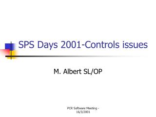 SPS Days 2001-Controls issues