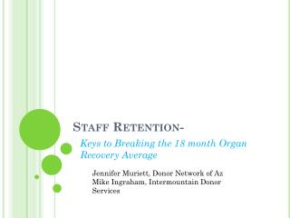 Staff Retention-