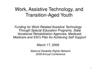 Work, Assistive Technology, and Transition-Aged Youth