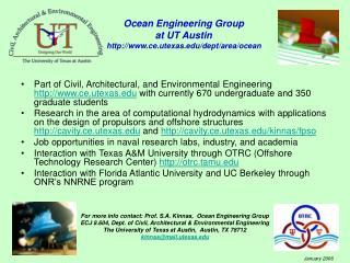 Ocean Engineering Group  at UT Austin  ce.utexas/dept/area/ocean