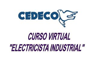 """CURSO VIRTUAL """"ELECTRICISTA INDUSTRIAL"""""""