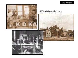KDKA in the early 1920s