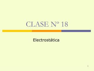 CLASE Nº 18