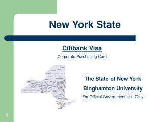 Citibank Visa Corporate Purchasing Card