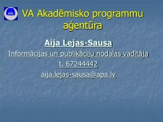VA Akadēmisko programmu aģentūra