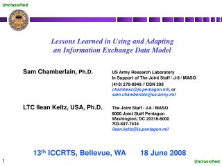 Lessons Learned in Using and Adapting an Information Exchange Data Model