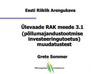 Eesti Riiklik Arengukava