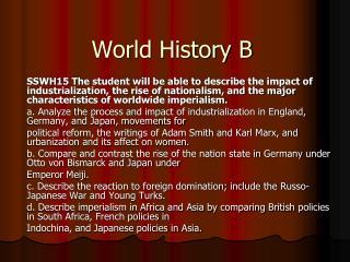 World History B