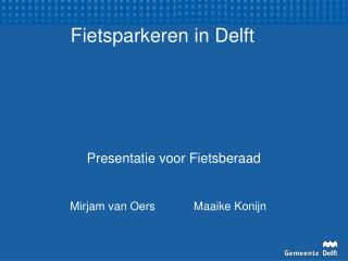 Fietsparkeren in Delft