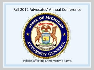 Fall 2012 Advocates' Annual Conference