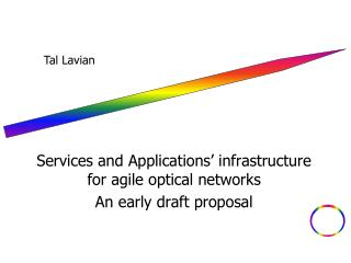 Services and Applications� infrastructure for agile optical networks An early draft proposal