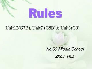 Unit12(G7B), Unit7 (G8B)& Unit3(G9)