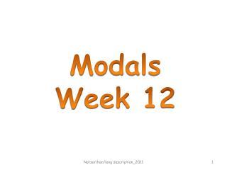 Modals Week 12