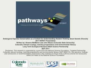 Shawna McMahon, John Moore & Biodiversity Team Colorado State University