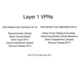 Layer 1 VPNs
