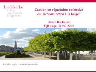 Action en r�paration collective � G�n�ralit�s (1/4)