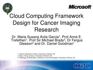 Cloud Computing Framework Design for Cancer Imaging Research