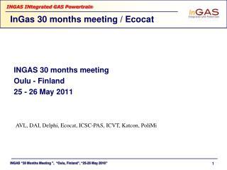 InGas 30 months meeting / Ecocat